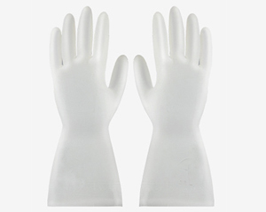 Flame bird pattern thickened PVC gloves